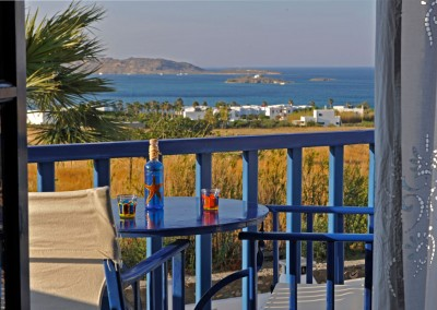 Panoramic sea view balcony Naoussa bay