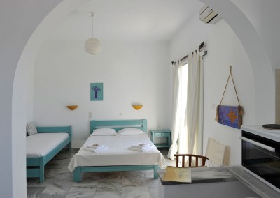 Inside beach studio Paros