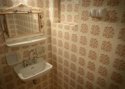 Vintage bathroom beach studio