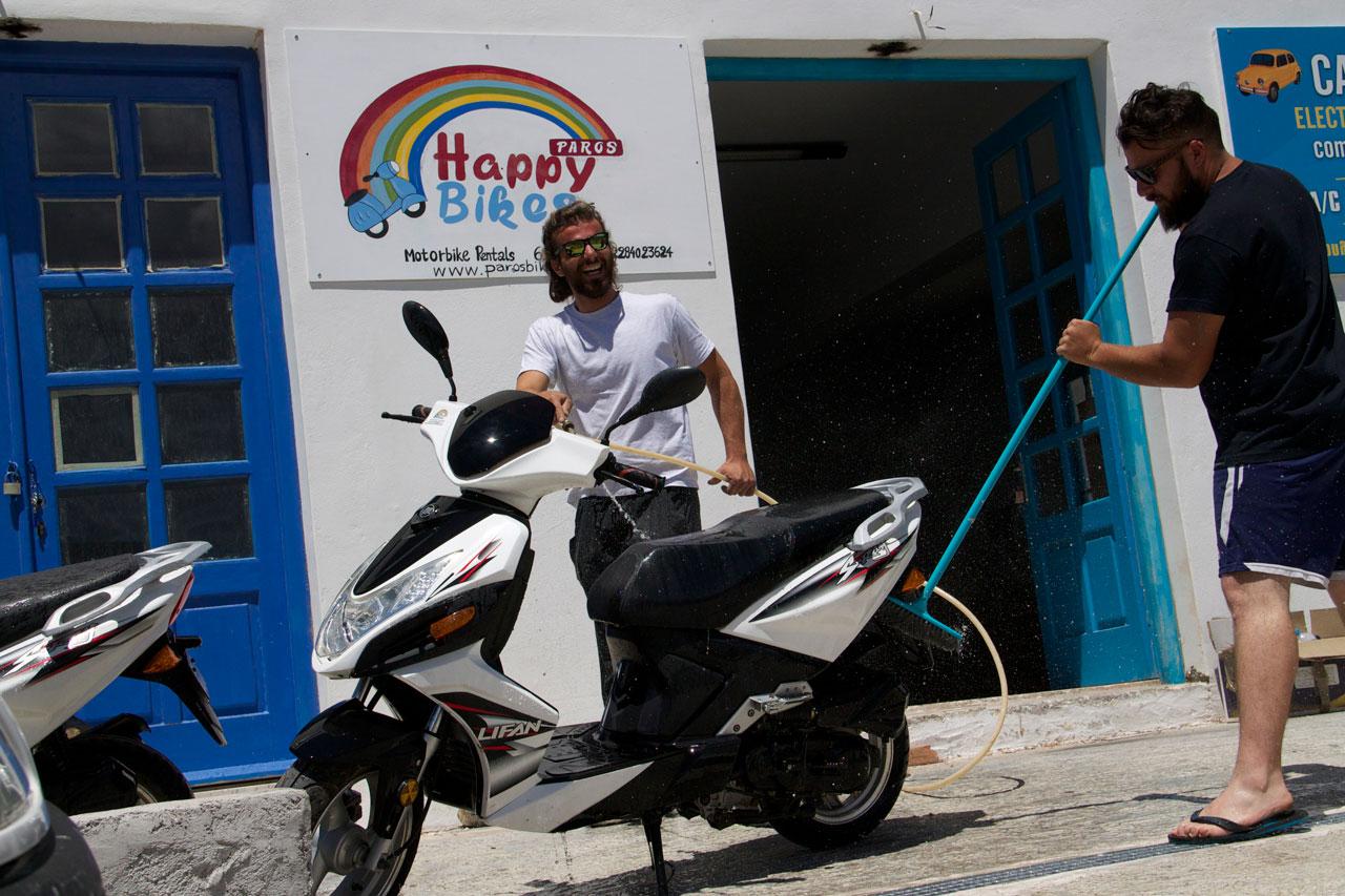 the happiest bikes on Paros