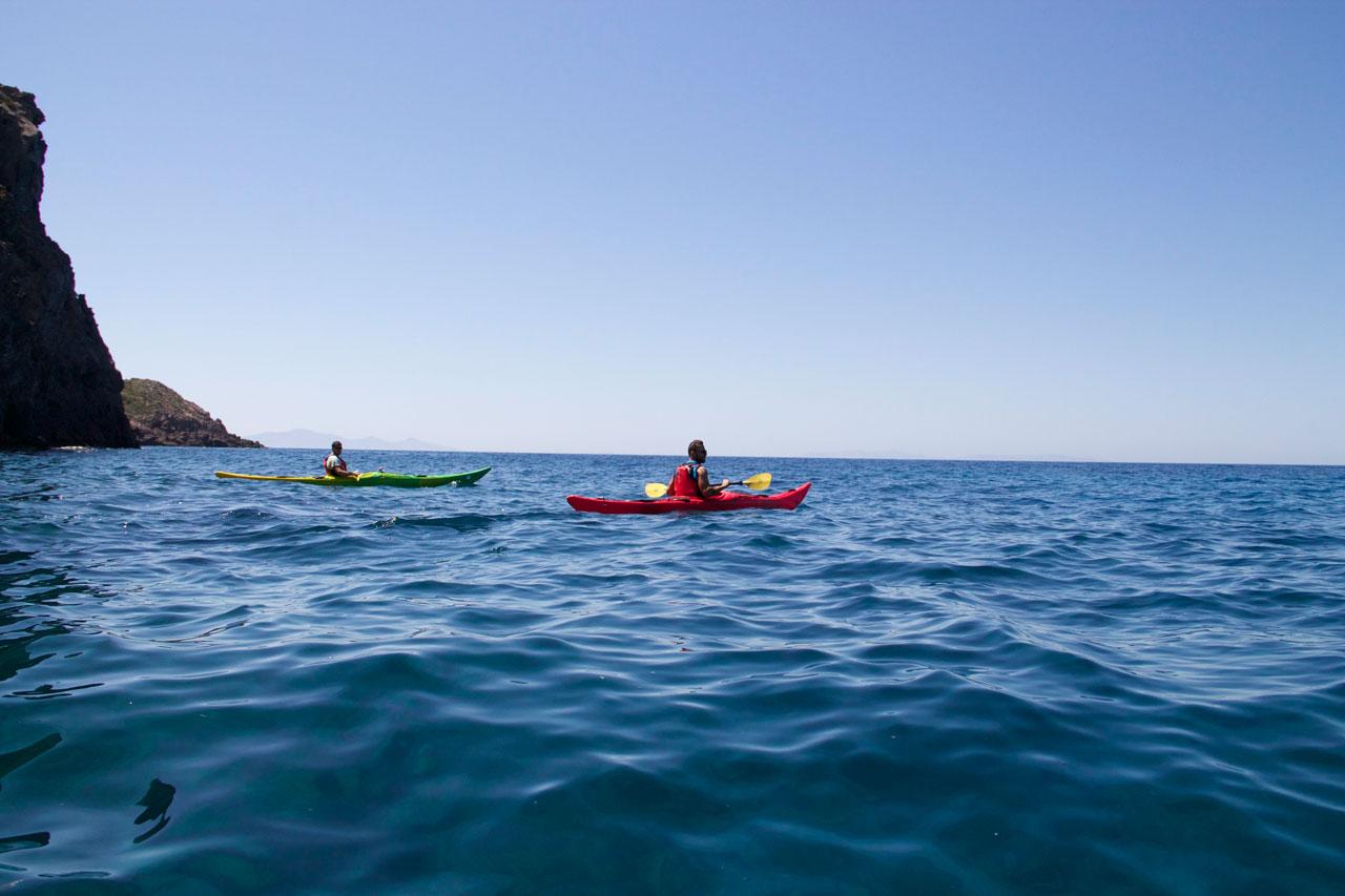 In the waters of Antiparos