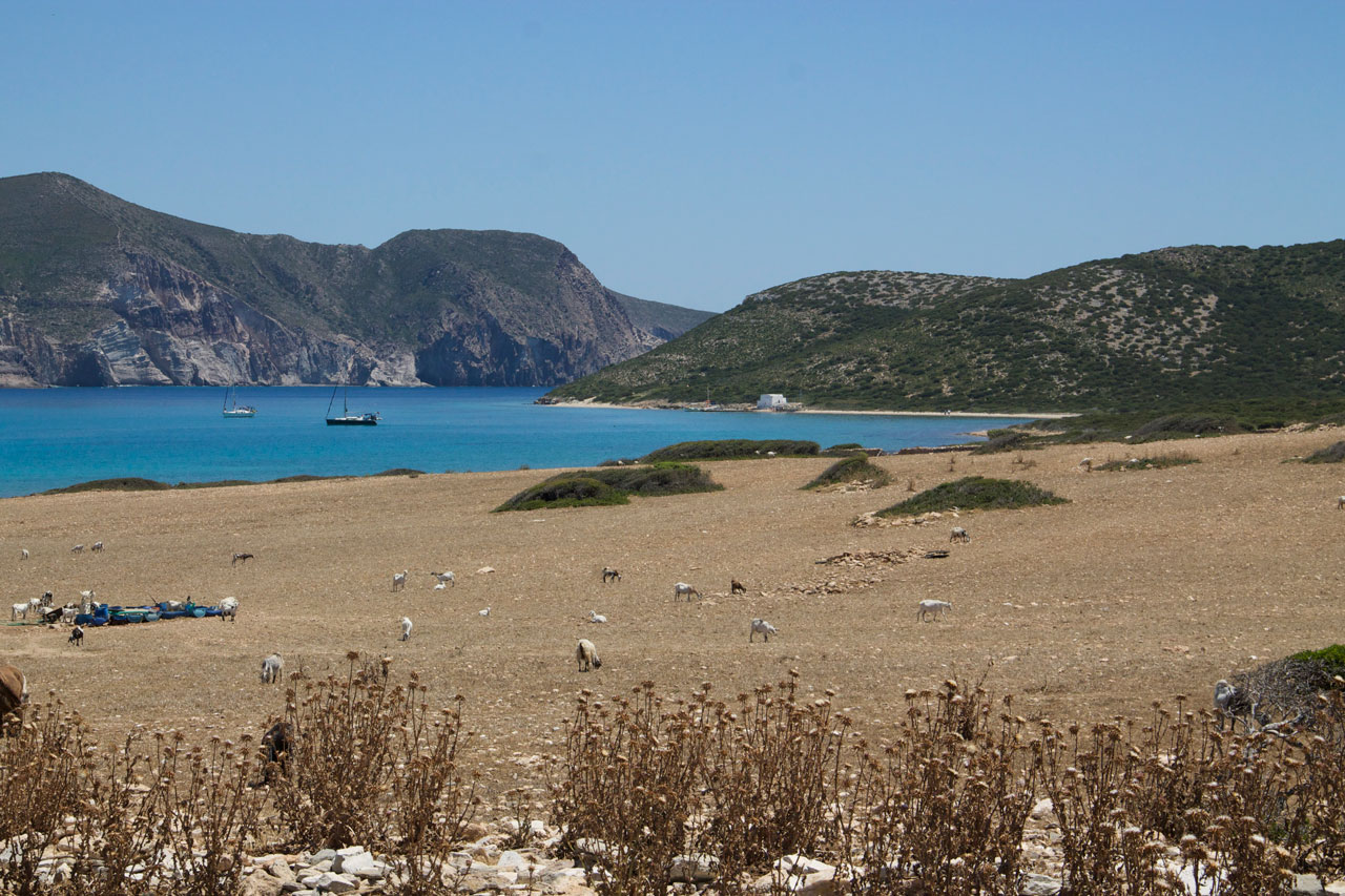 Despotiko and Antiparos in the background