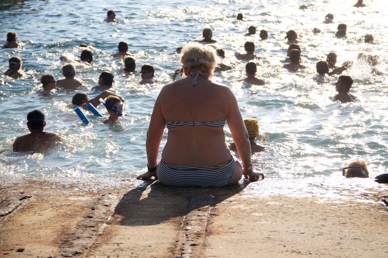 swimming Paros-Antiparos